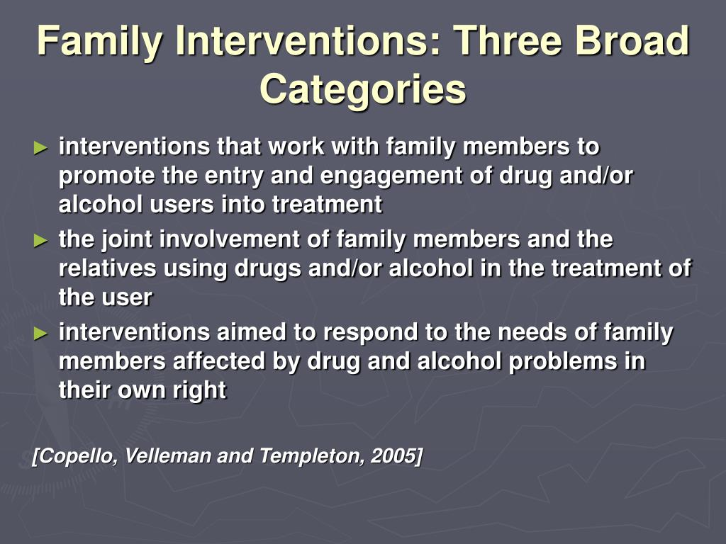 Family Interventions: Three Broad Categories