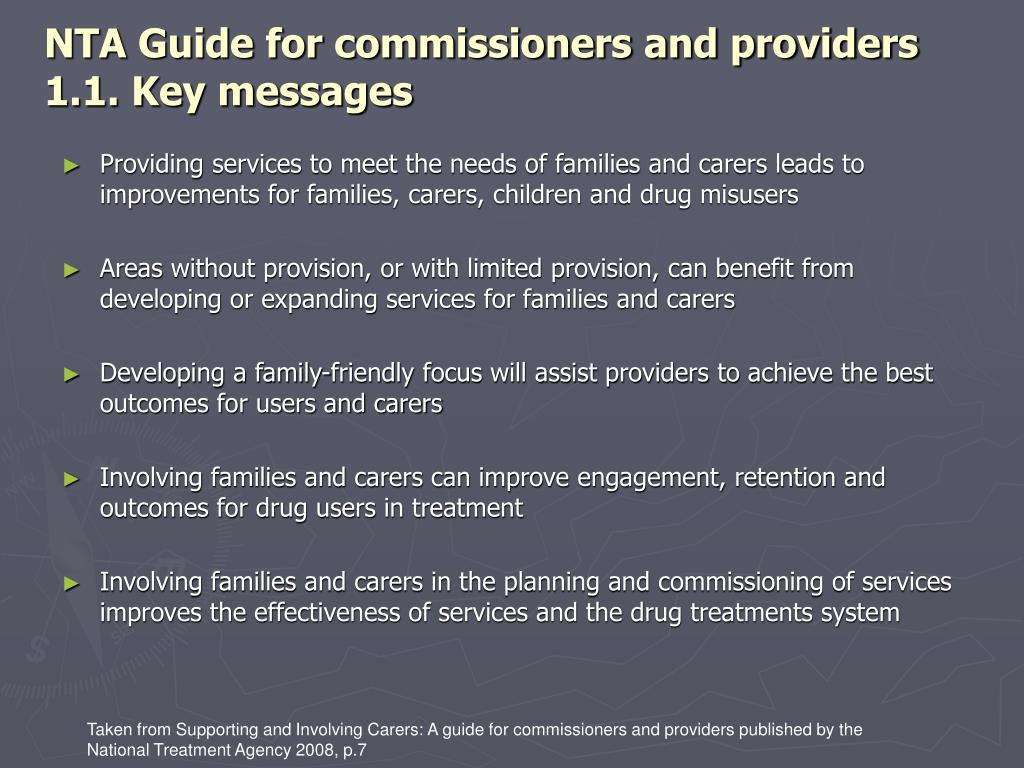 NTA Guide for commissioners and providers