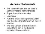 access statements76