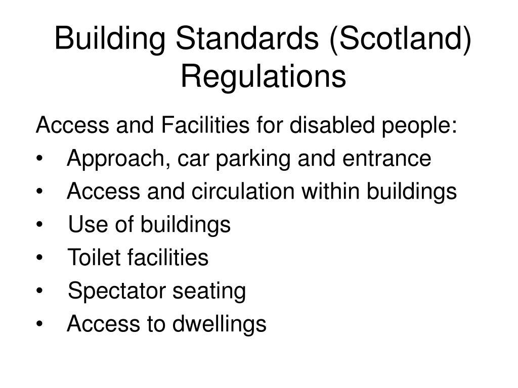 Building Standards (Scotland) Regulations
