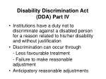 disability discrimination act dda part iv