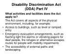 disability discrimination act dda part iv4