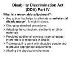 disability discrimination act dda part iv7