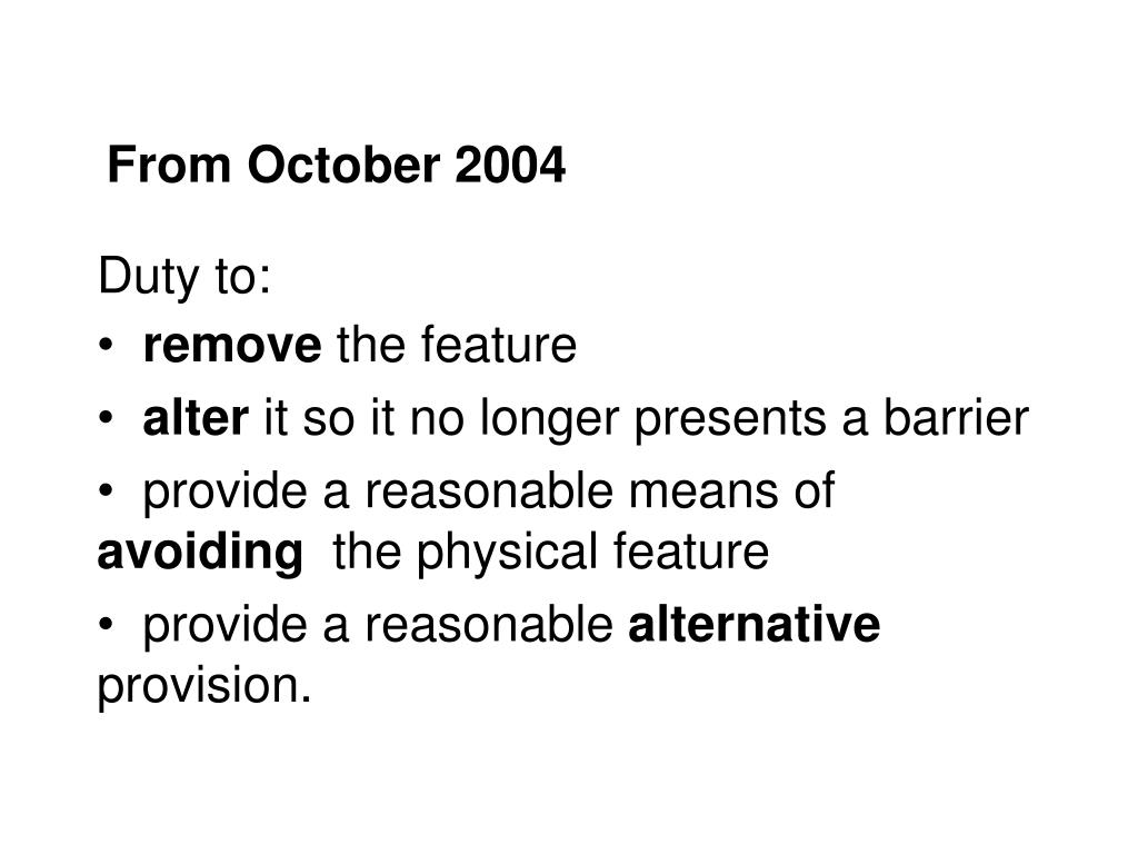 From October 2004