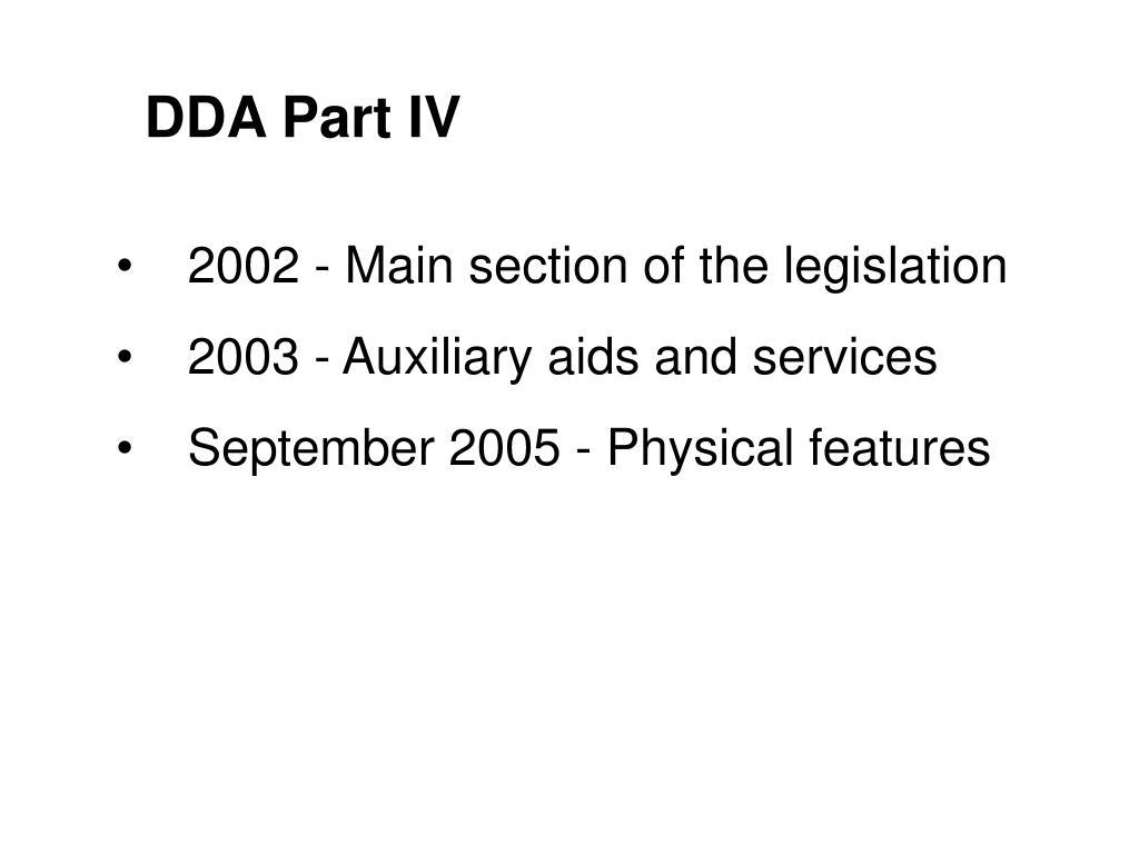 DDA Part IV