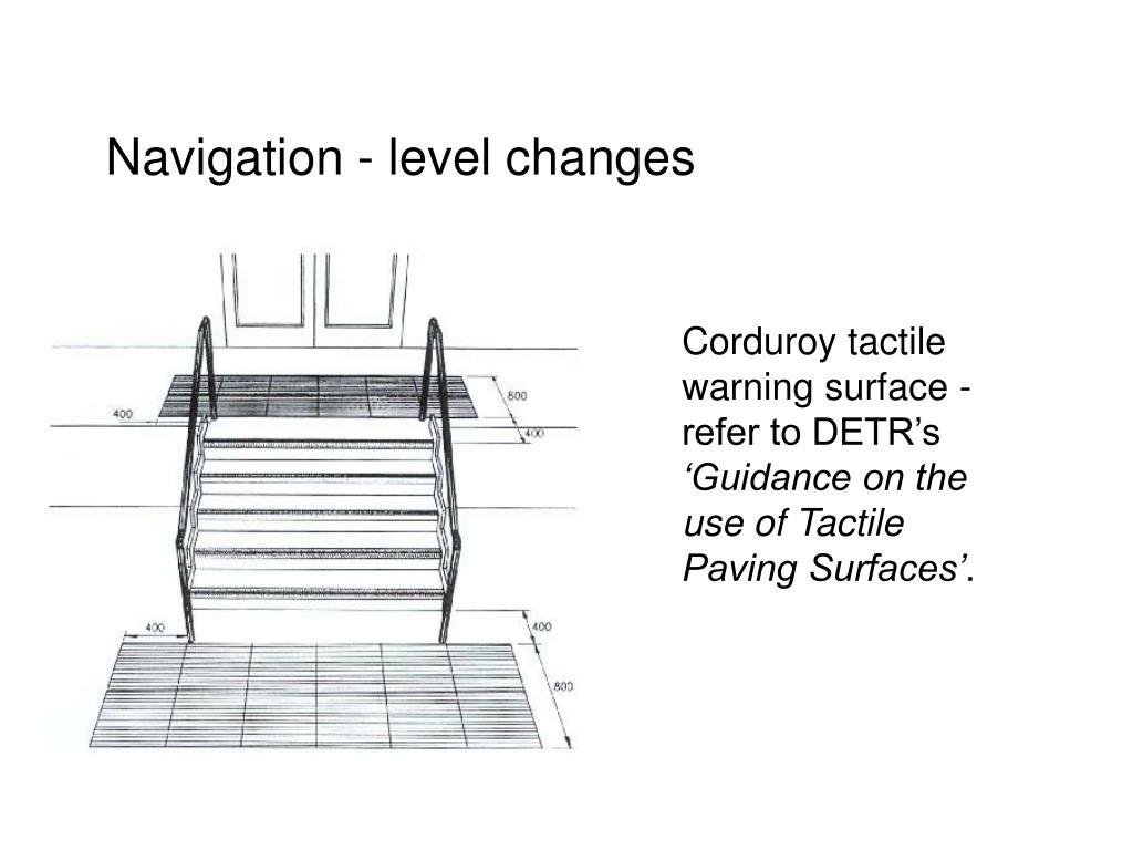Navigation - level changes