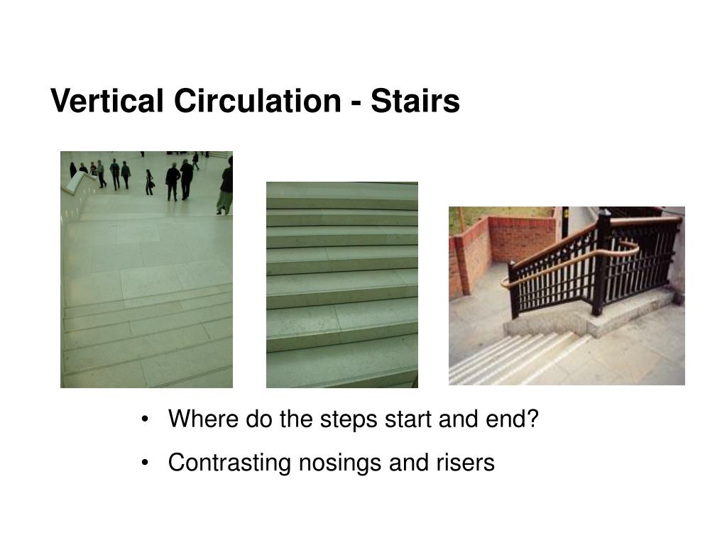 Vertical Circulation - Stairs