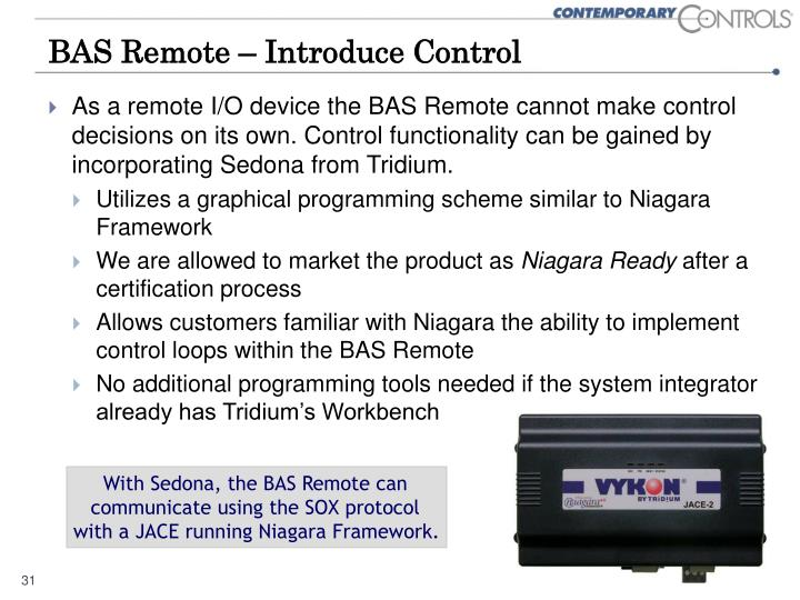 BAS Remote – Introduce Control