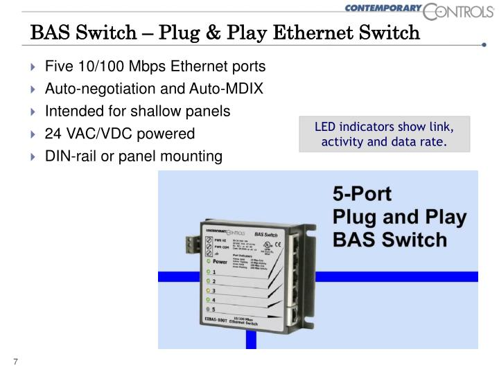 BAS Switch – Plug & Play Ethernet Switch