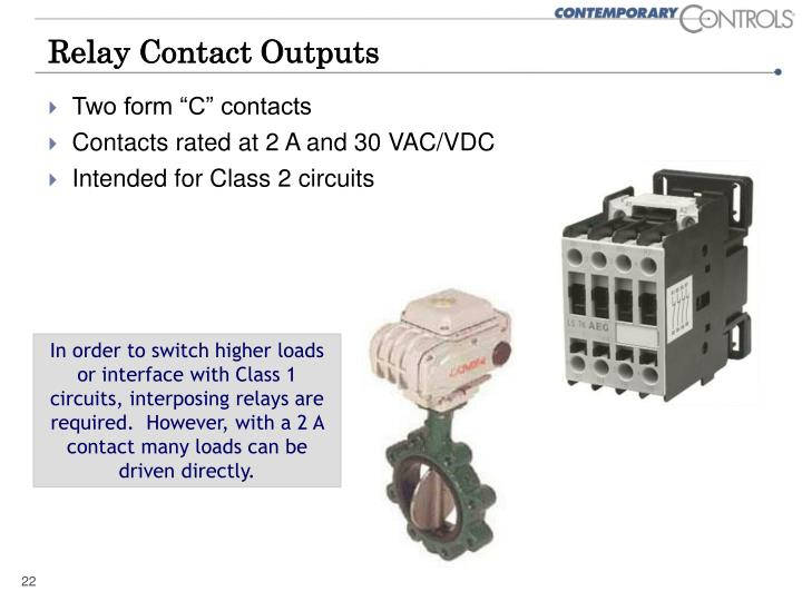 Relay Contact Outputs