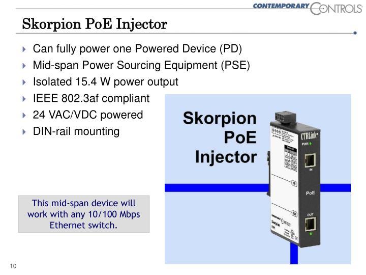 Skorpion PoE Injector