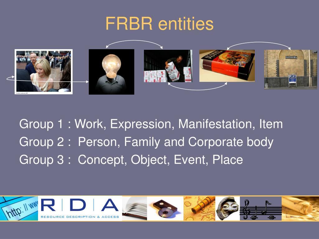 FRBR entities