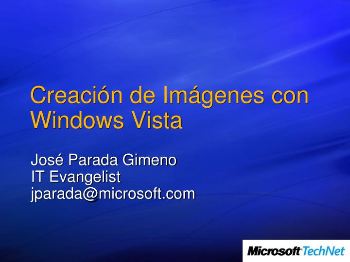 Creaci n de im genes con windows vista
