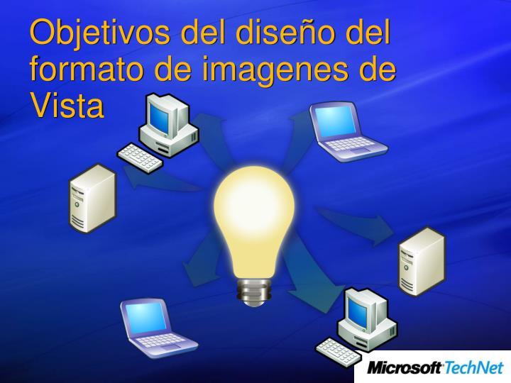 Objetivos del diseño del formato de imagenes de Vista