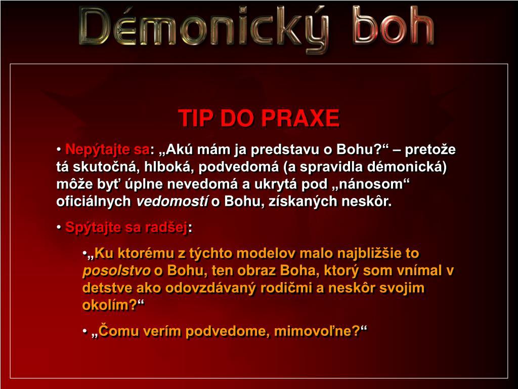 TIP DO PRAXE