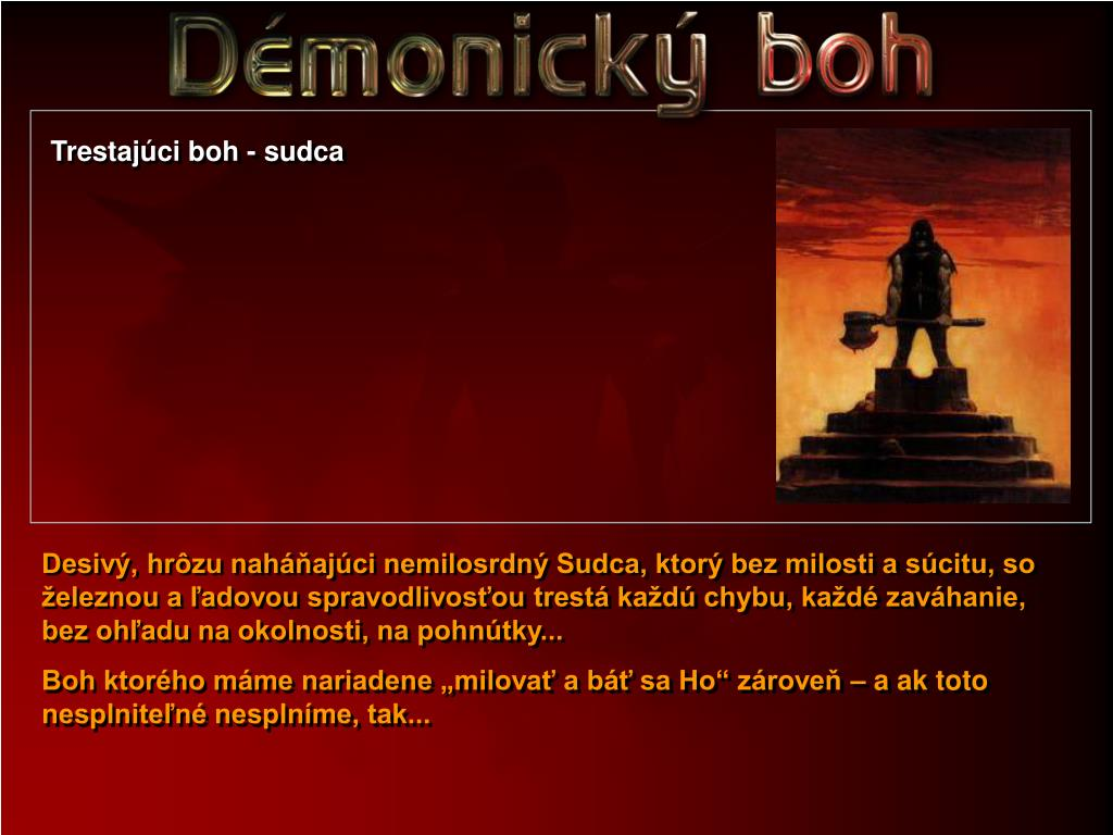 Trestajúci boh - sudca