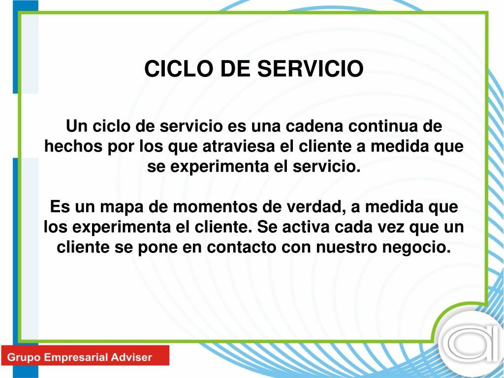 CICLO DE SERVICIO