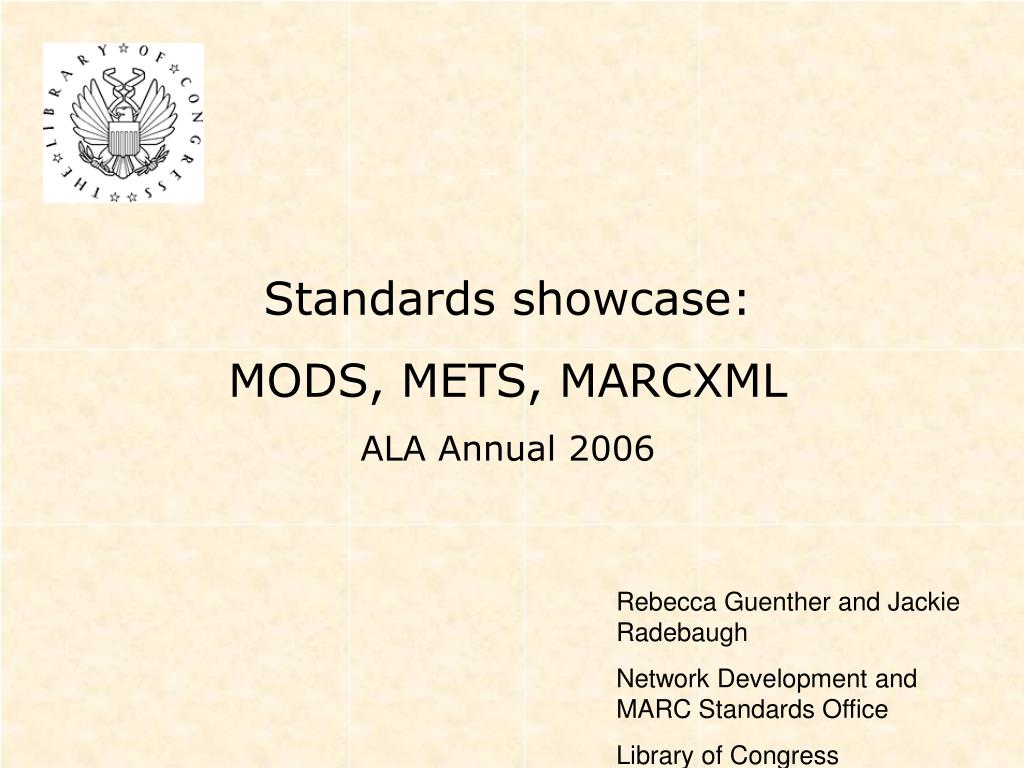 Standards showcase: