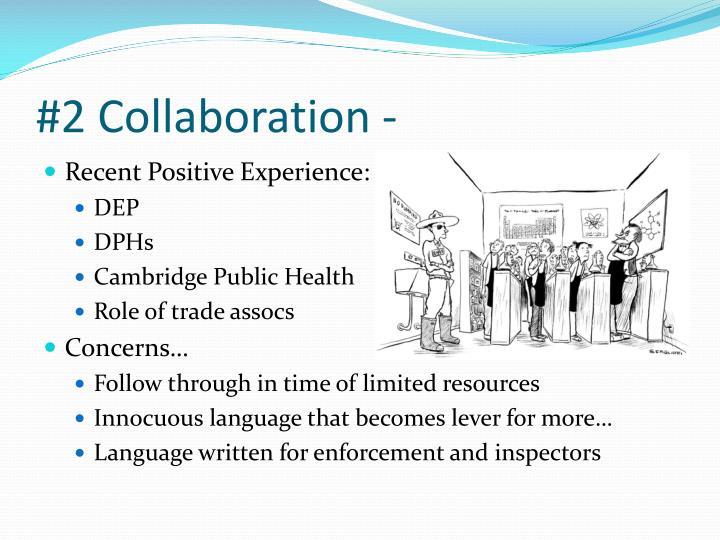 #2 Collaboration -