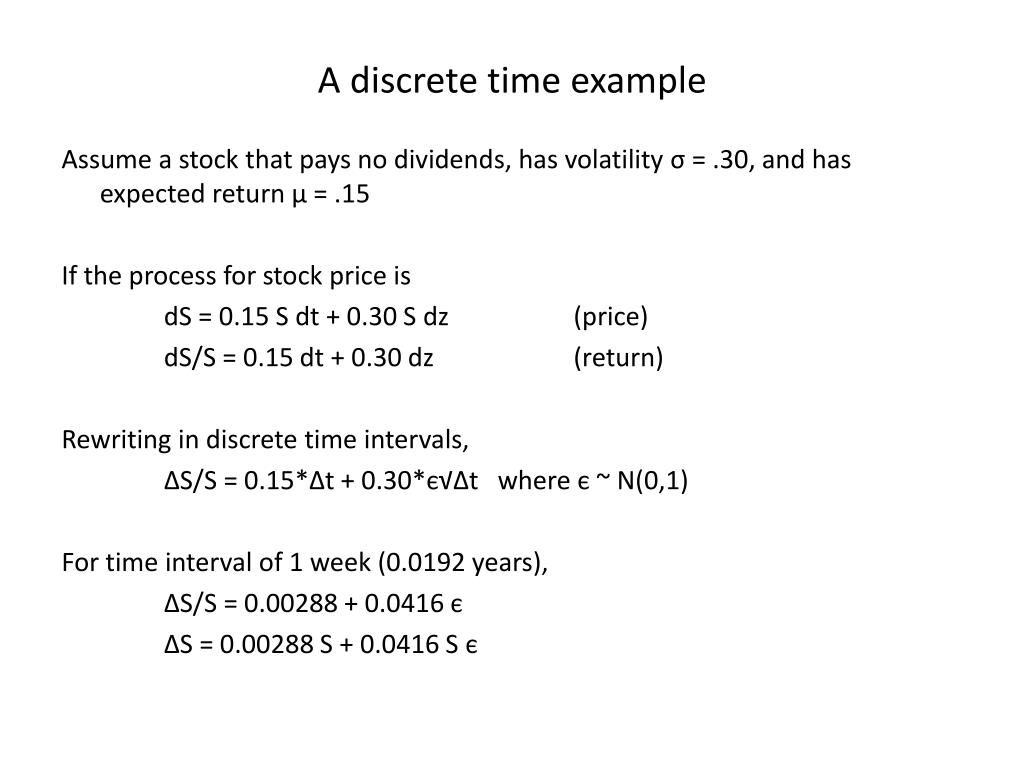 A discrete time example