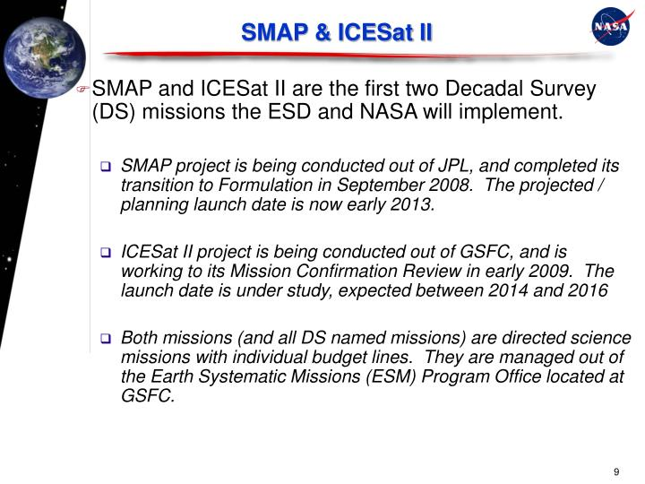SMAP & ICESat II