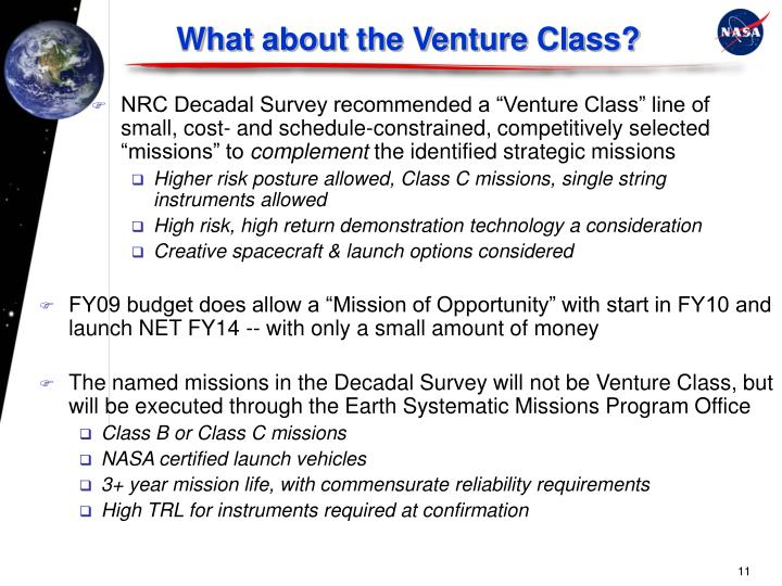 What about the Venture Class?