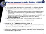where do we expect to be by october 1 2009