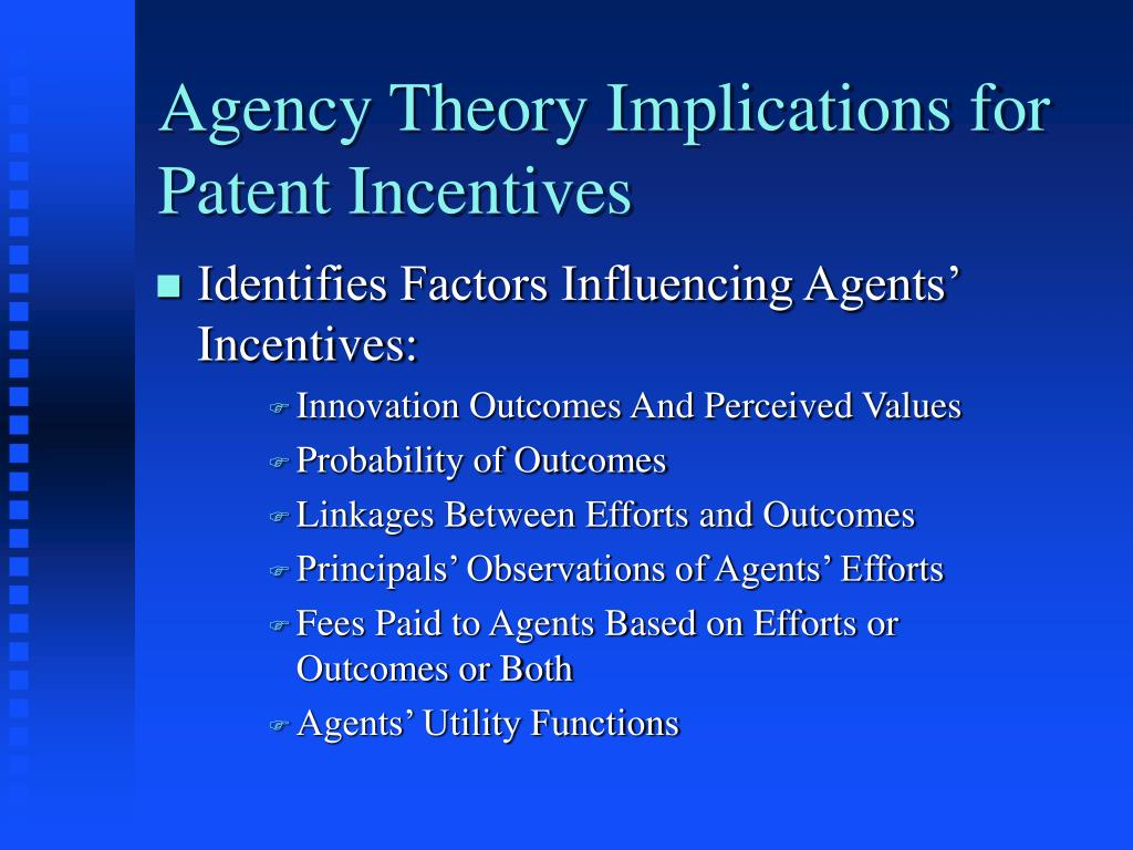 Agency Theory Implications for