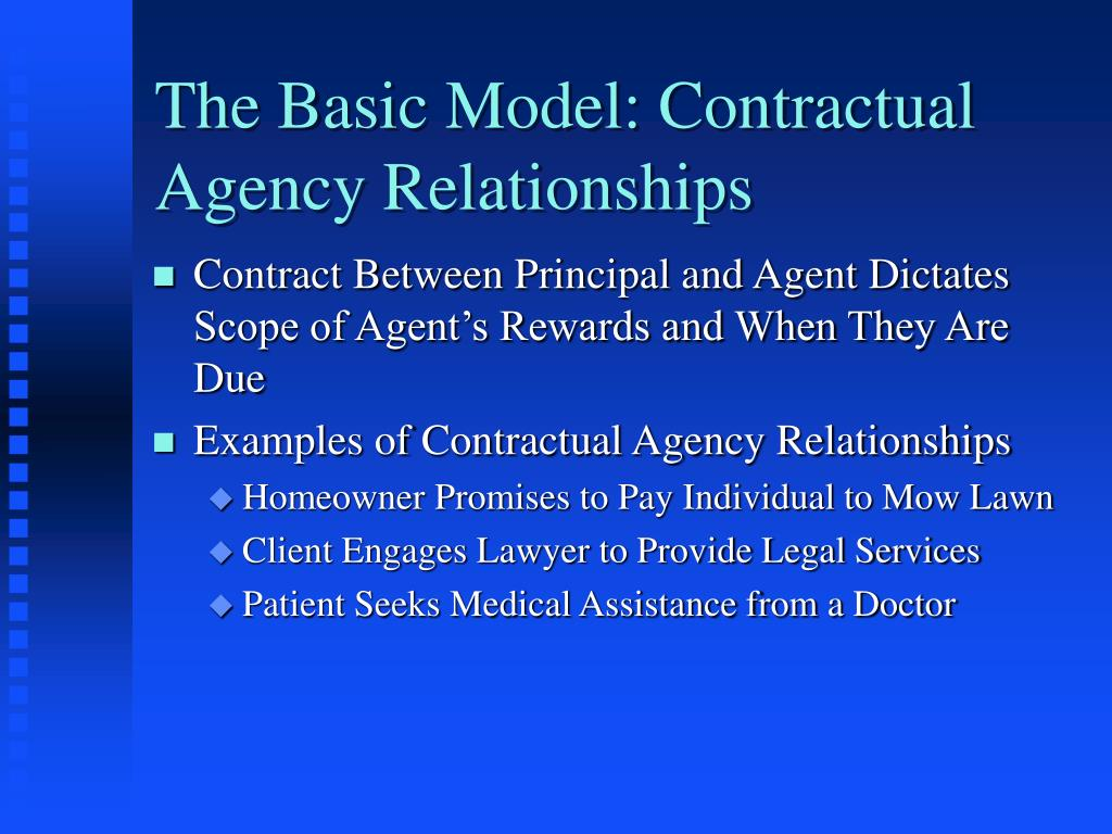 The Basic Model: Contractual Agency Relationships