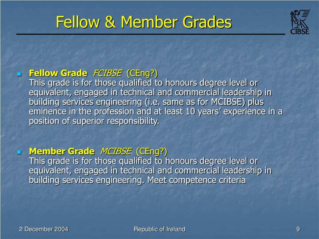 Fellow & Member Grades
