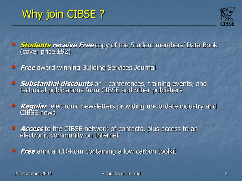Why join CIBSE ?