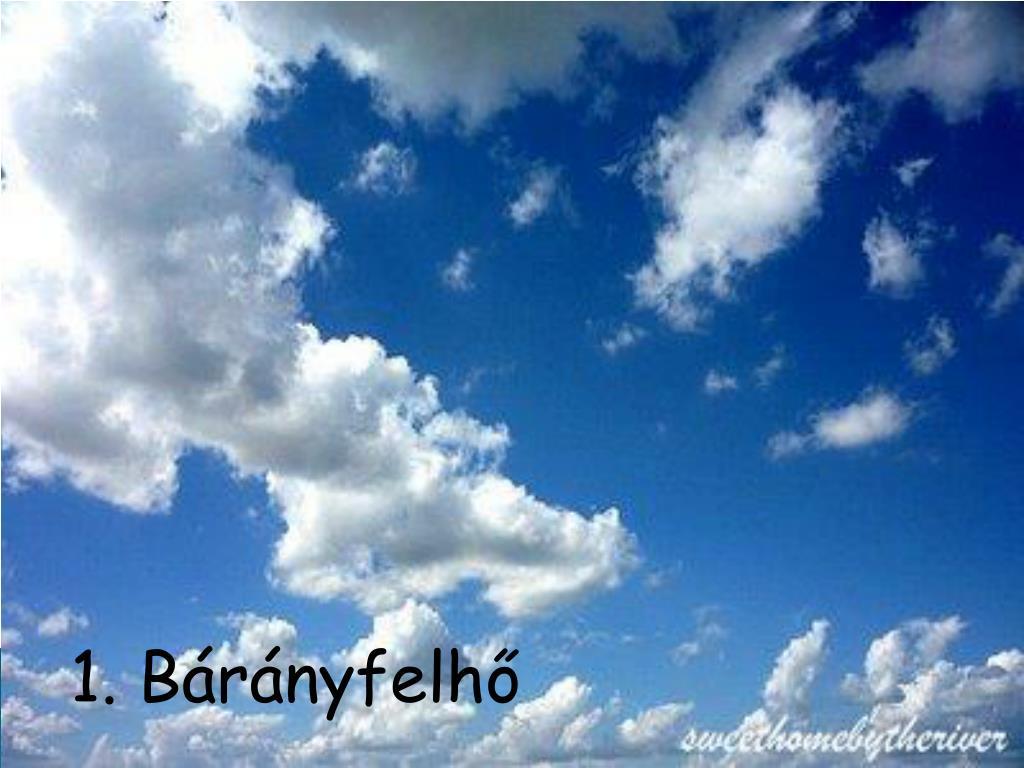 1. Bárányfelhő