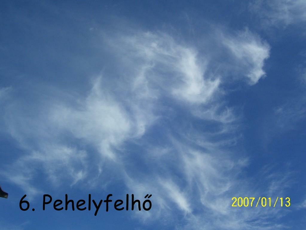 6. Pehelyfelhő