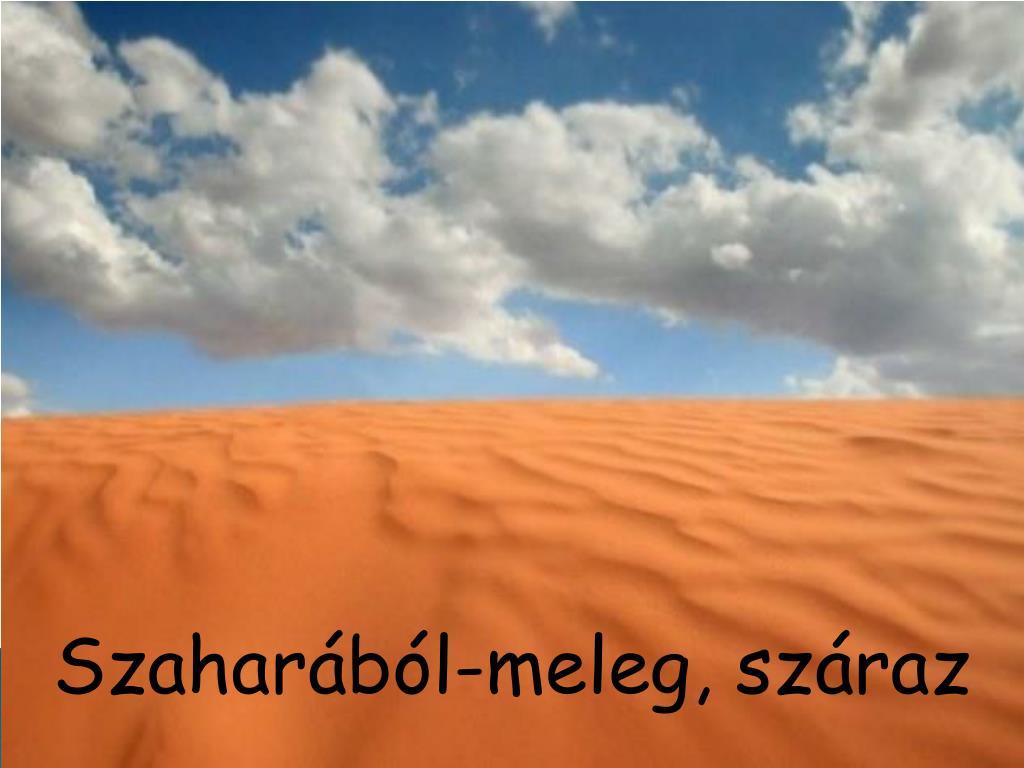 Szaharából-meleg, száraz