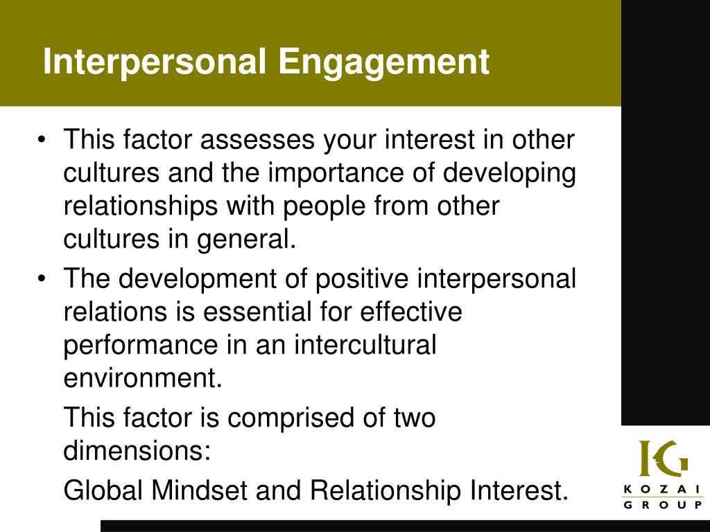 Interpersonal Engagement