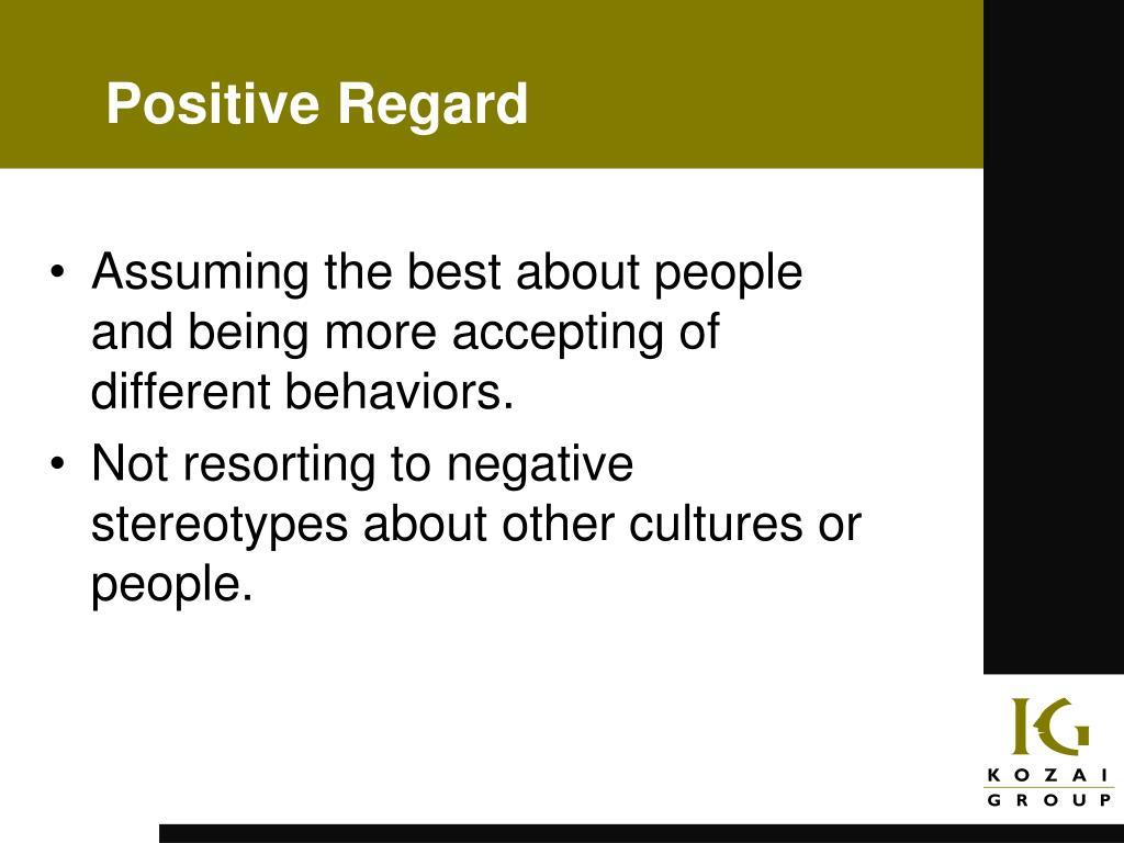 Positive Regard
