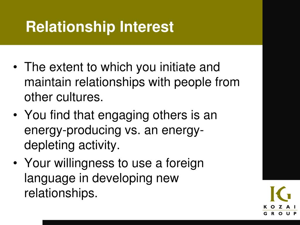 Relationship Interest