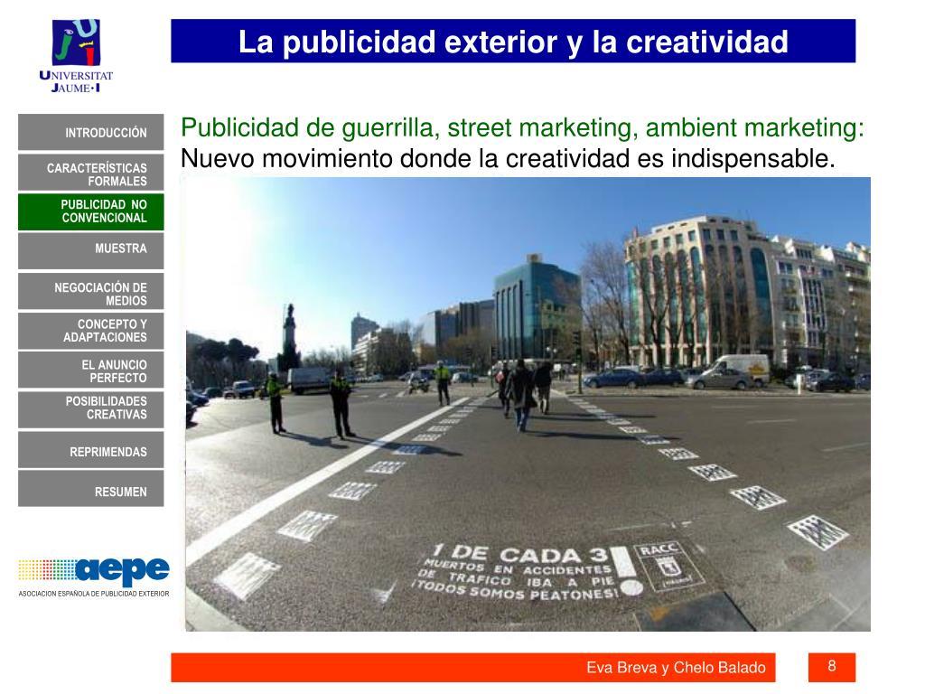 Publicidad de guerrilla, street marketing, ambient marketing: