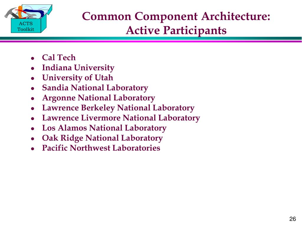 Common Component Architecture: