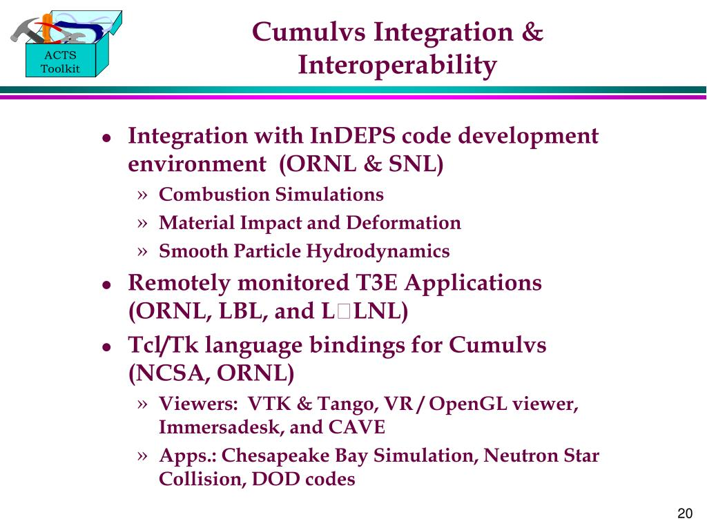 Cumulvs Integration & Interoperability