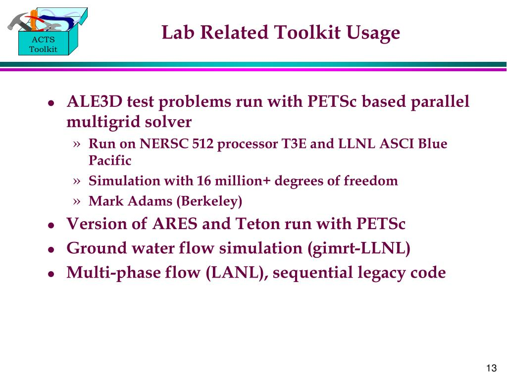 Lab Related Toolkit Usage