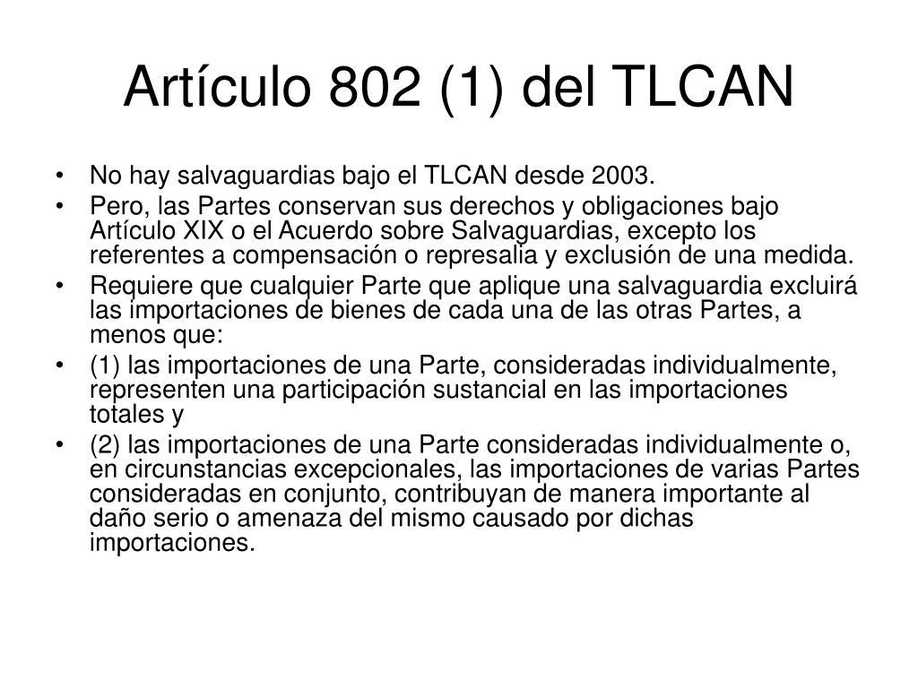 Artículo 802 (1) del TLCAN