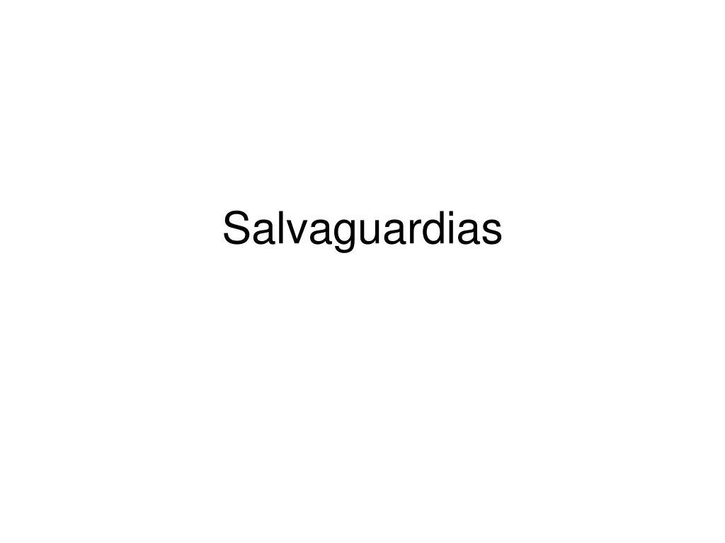 Salvaguardias