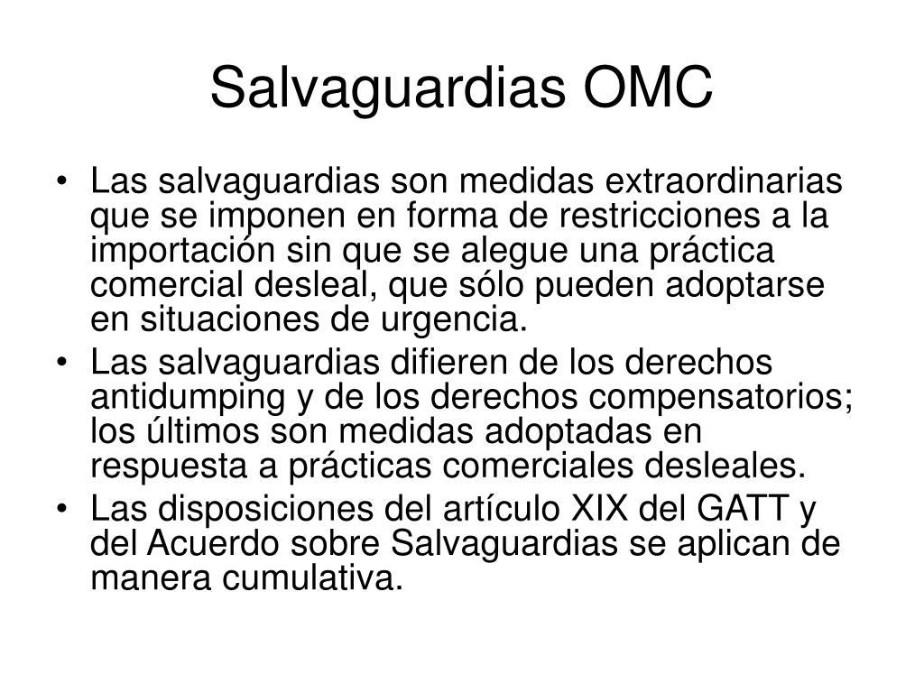 Salvaguardias OMC