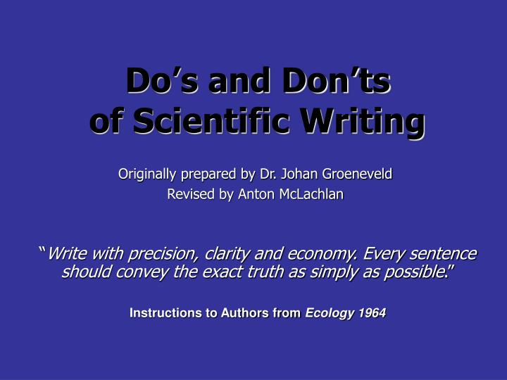 Do s and don ts of scientific writing l.jpg