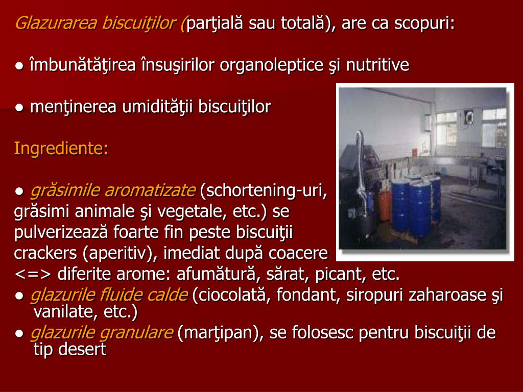 Glazurarea biscuiţilor (