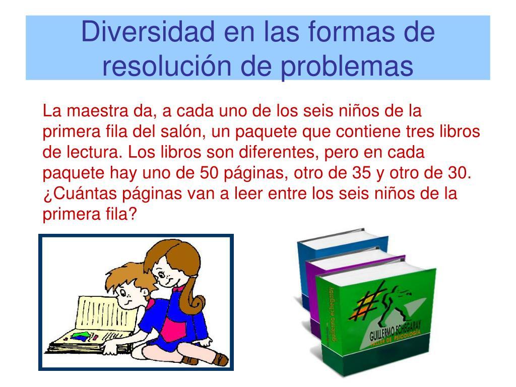 Diversidad en las formas de resolución de problemas