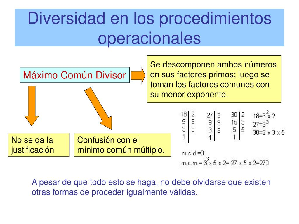 Diversidad en los procedimientos operacionales