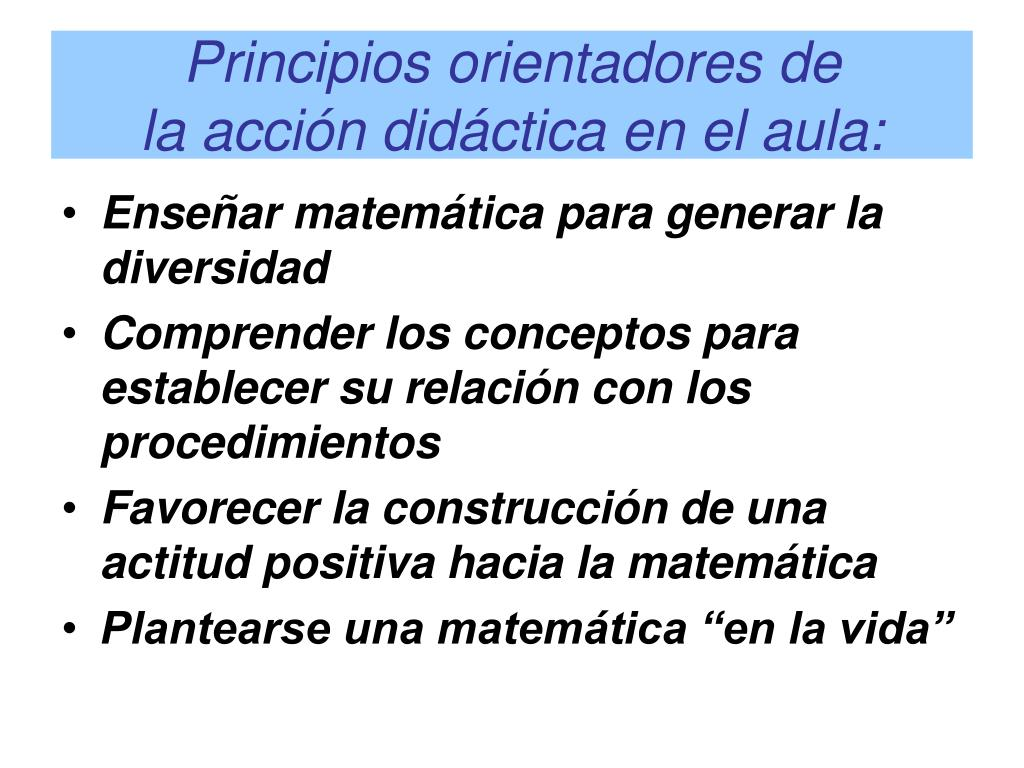 Principios orientadores de
