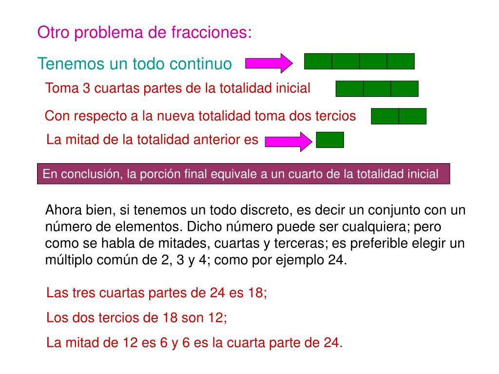 Otro problema de fracciones: